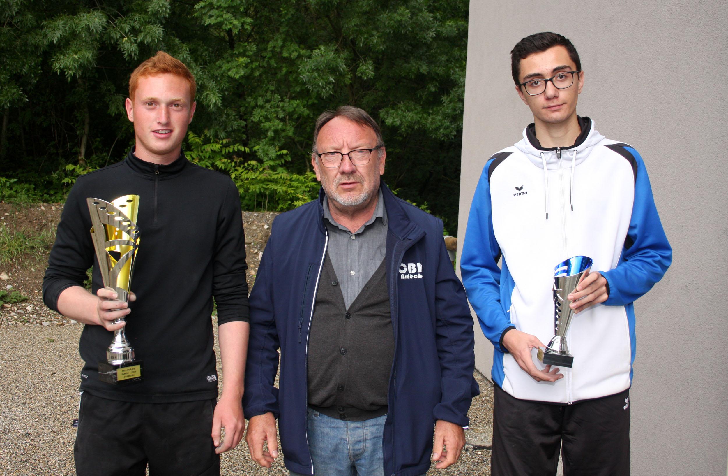 Les finalistes chez les jeunes
