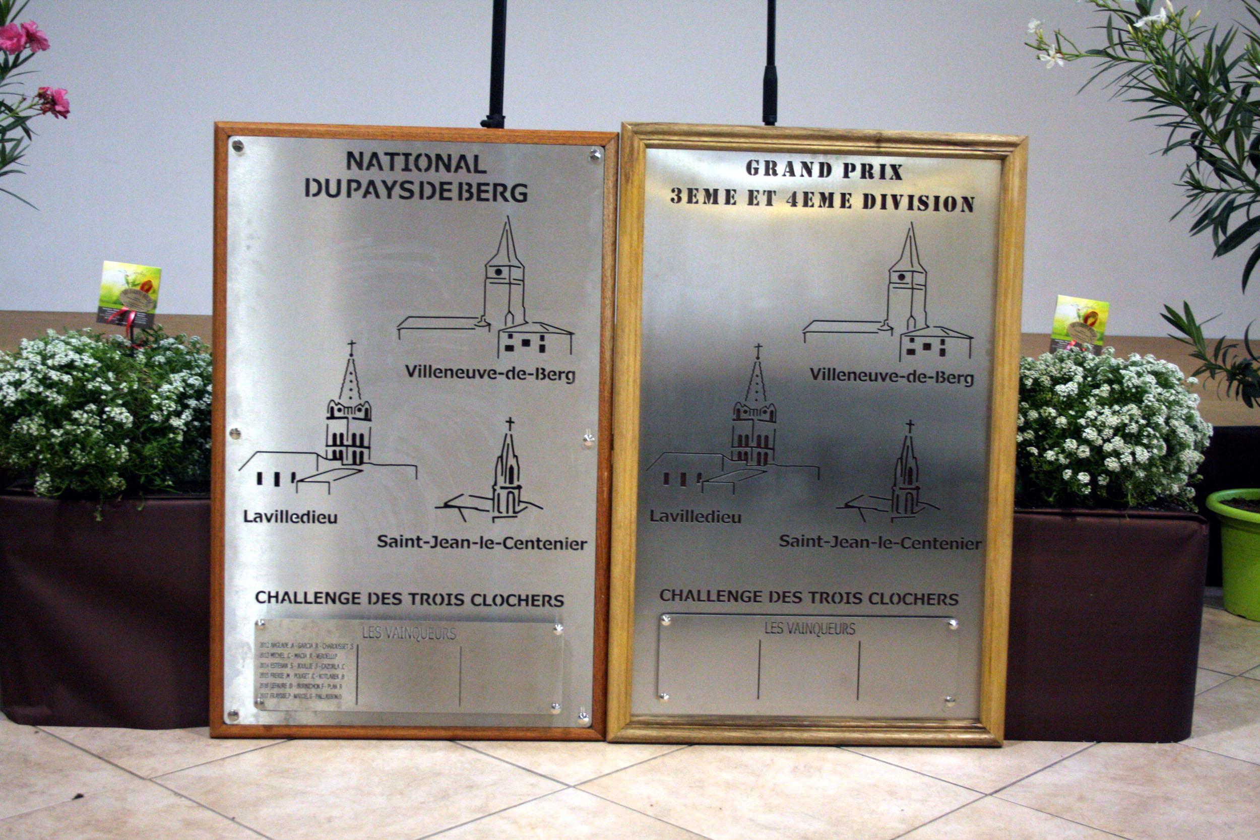 Inscriptions pour le Challenge des Trois clochers